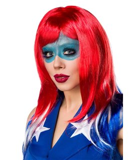 Sexy Miss America Kostümset Karneval Halloween
