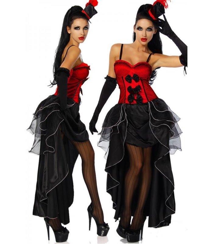 Sexy Cabarett-Kostüm Karneval Halloween