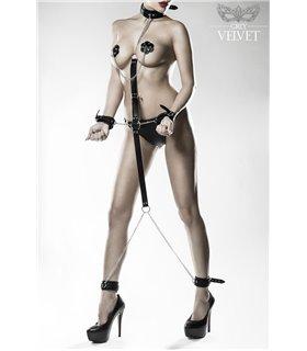 Grey Velvet 3-teiliges Bondage-Set von Grey Velvet schwarz
