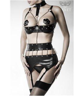 Grey Velvet 3-teiliges Ketten-Body-Set von Grey Velvet schwarz