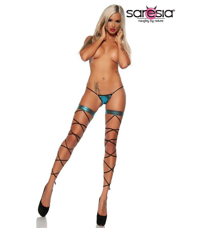 Sexy Schnür-Leggings Gogo - Tabledance