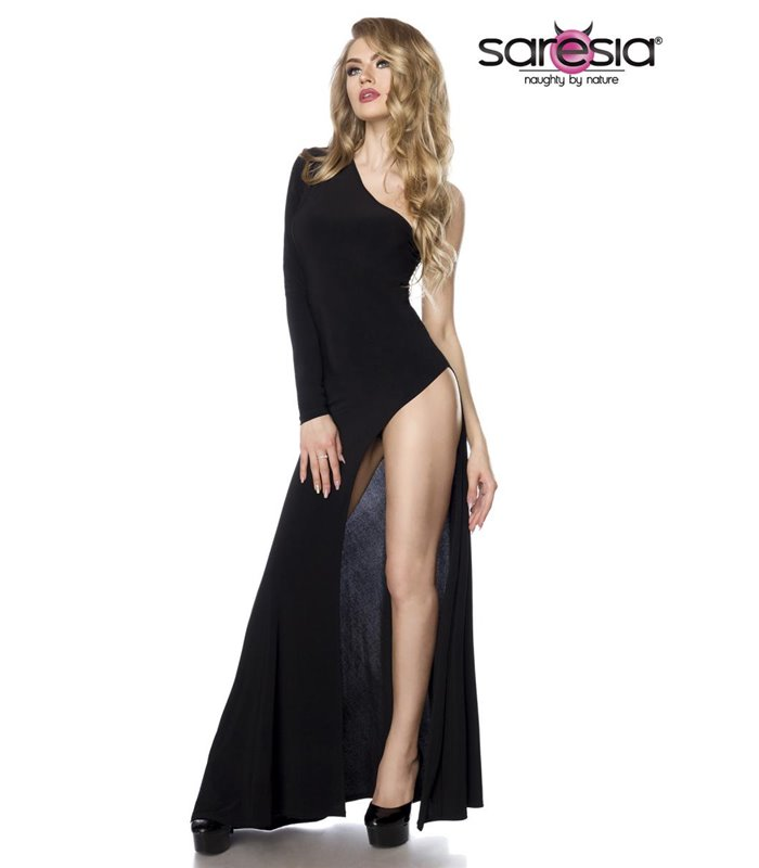 Saresia Gogo-Kleid schwarz - lange Kleider