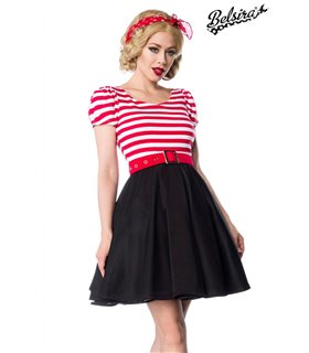 Belsira Jersey Kleid schwarz/weiß