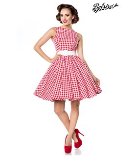 Belsira Karokleid rot/weiss - kurze Kleider