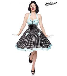 Belsira Vintage-Swing-Kleid schwarz/weiss - midi Kleider
