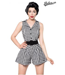 Belsira Retro-Jumpsuit rot/weiss - Bodys & Playsuits