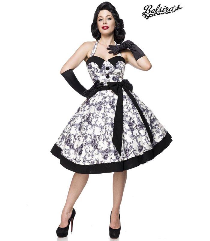 Belsira Vintage Swing Kleid schwarzweiss midi Kleider