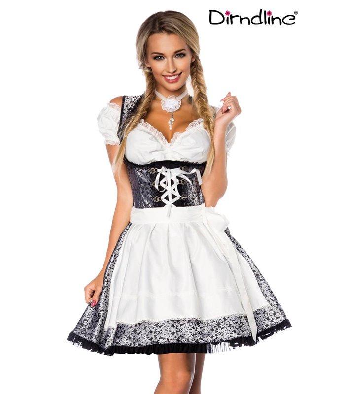 Sexy Premium Bluse &  Dirndl aus edlem Jacquard Karneval Halloween
