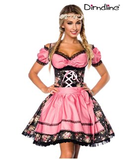 Sexy Premium Bluse &  Dirndl aus edlem Denim Karneval Halloween