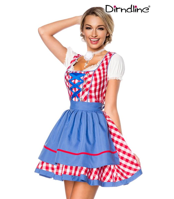 Sexy Traditionelles Minidirndl Karneval Halloween