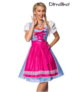 Dirndline Traditionelles Karodirndl  pink/blau/weiß