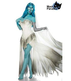 Sexy Corpse Bride Komplettset Karneval Halloween