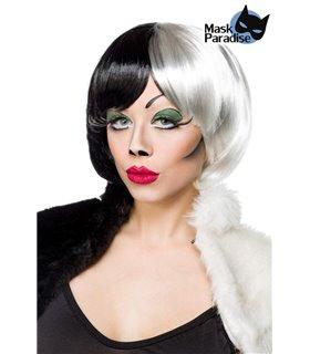 Mask Paradise Cruel Lady Perücke schwarz/weiß