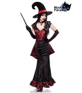 Mask Paradise Dark Witch schwarz/rot - Hexen