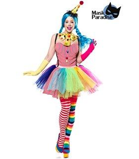 Mask Paradise Clown Girl bunt - Clowns & Harlequins