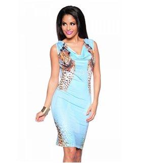 Sexy Kleid mit Leoprint - Kleider - Dresses