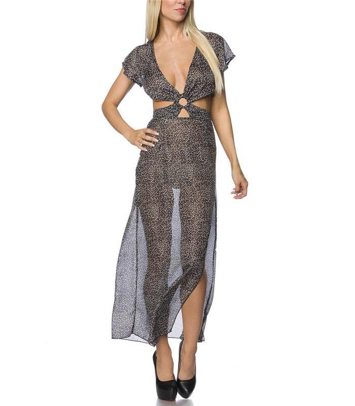 quality design 71483 bfb07 Atixo Maxi-Kleid schwarz/grau/weiß