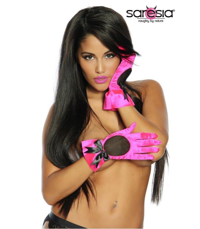 Sexy Satin-Handschuhe  - Accessories