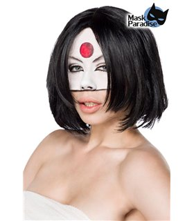 Mask Paradise Suicide Samurai Perücke schwarz