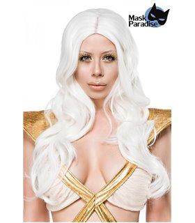 Mask Paradise Fairy Perücke weiß