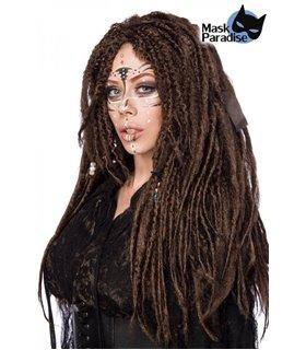 Mask Paradise Vodoo Witch Perücke braun