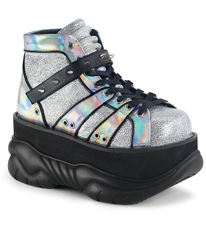 Demonia Plateau Schuhe NEPTUNE 100 Silber online günstig kaufen