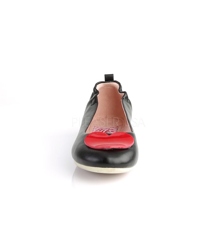 Pin Up Couture Ballerinas OLIVE-05 Schwarz
