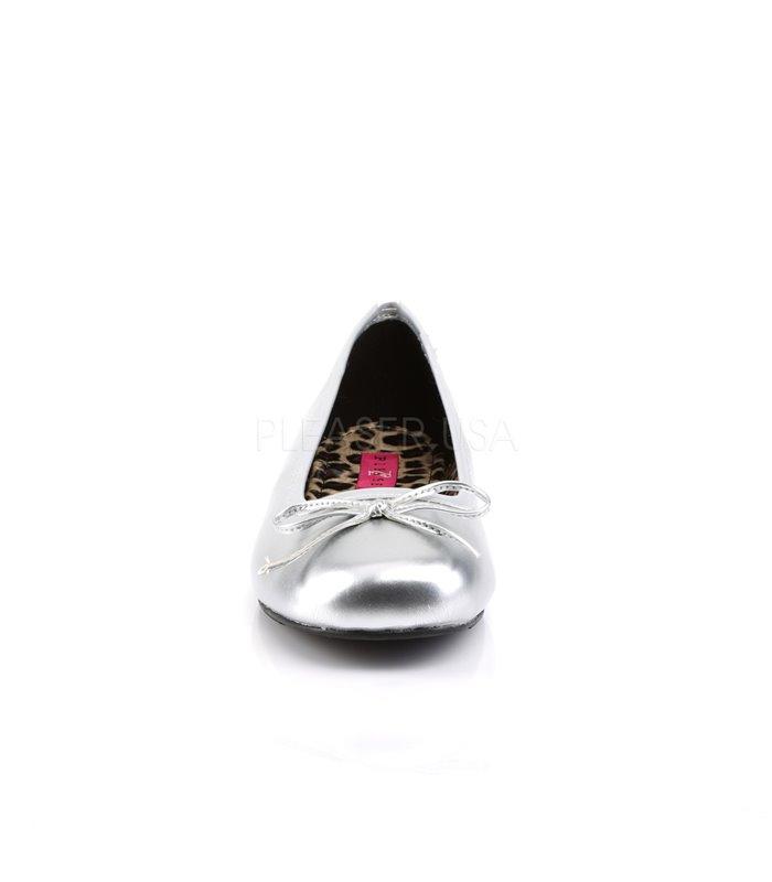 Pleaser Ballerinas Pleaser Pink Label ANNA-01 silber