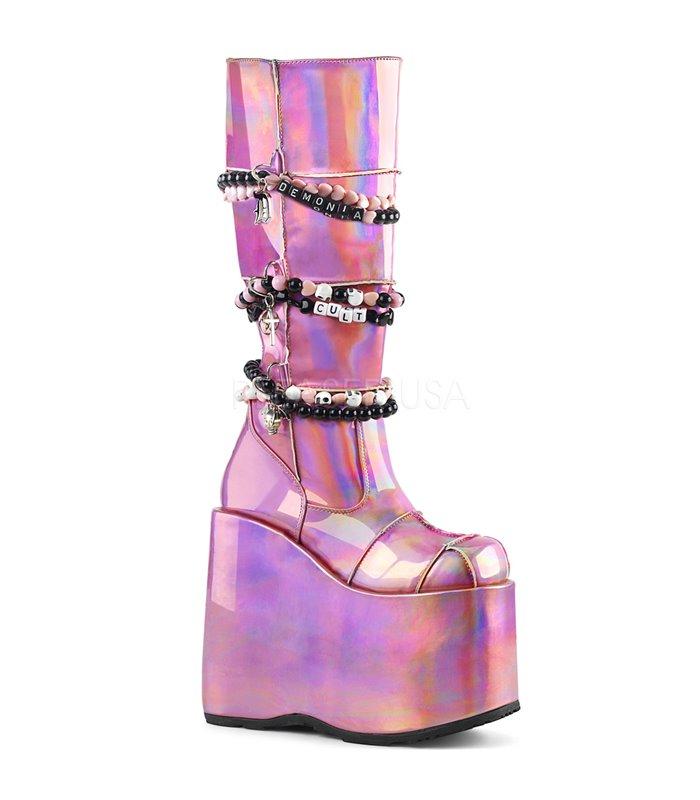Demonia Plateau Stiefel SLAY 301 rosa online günstig kaufen