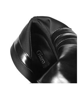 Giaro Luisa Damen Herren Unisex Plateau Stiefel schwarz matt