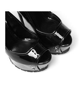 Giaro Madison Damen Herren Plateau High-Heels schwarz lack