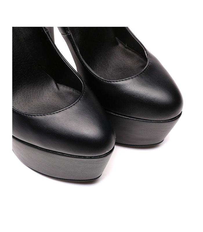 Giaro Vicky Damen Herren Plateau High-Heels schwarz