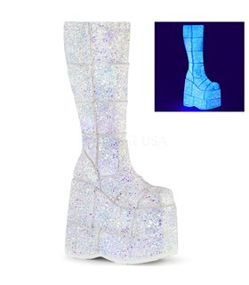 Plateau Stiefel STACK-301G - Weiss / Neon
