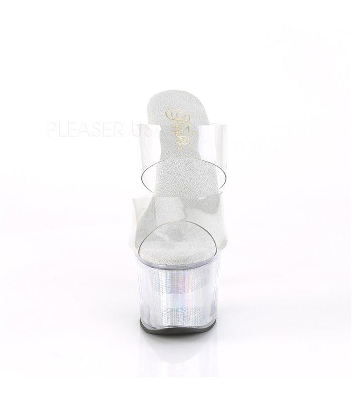 Plateau Pantolette FLASHDANCE-702CH - LED Transparent