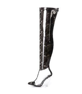 Giaro Overknee Stiefel Fascinate schwarz marble