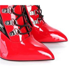 Giaro Overknee Stiefel Veruska schwarz rot