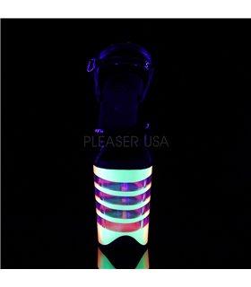 Extrem Plateau Heels FLAMINGO-808UVLN - Neon Mehrfarbig
