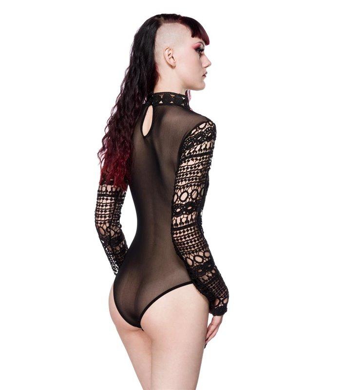 Gothic-Body aus Spitze