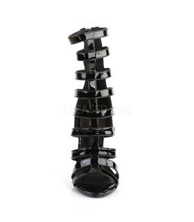 Stiletto Sandalette SEXY-52 - Lack Schwarz