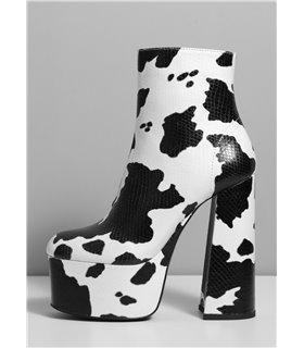 Ellie Tailor Antonia schwarz weiss Ankle Boots Damen Herren Übergröße