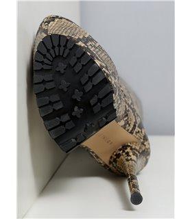 Ellie Tailor Jacey snake beige kniehoher Stiefel Damen Herren Übergröße