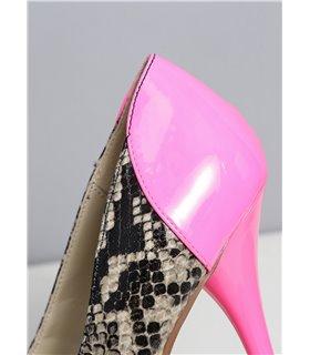 Eliie Tailor Jamie snake fuchsia mehrfarbig kniehoher Stiefel Damen Herren Übergröße
