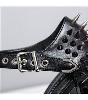 Ellie Tailor Goddess schwarz matt Peep Toe Sandale Damen Herren Übergröße