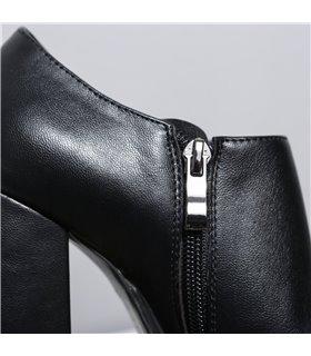 Ellie Tailor Mina schwarz matt Ankle Booties Damen Herren Übergröße