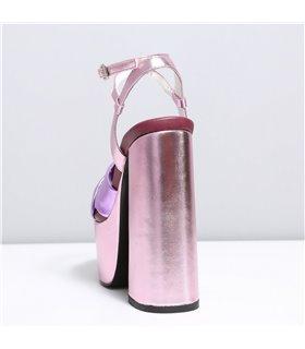 Ellie Tailor Dolly pink lilac Plateau Sandalen Damen Herren Übergröße