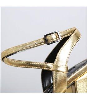 Ellie Tailor Dolly gold matt Plateau Sandalen Damen Herren Übergröße