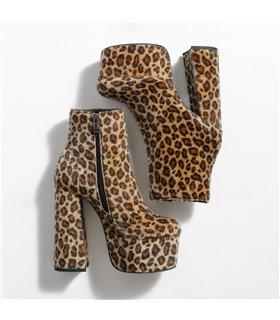 Ellie Tailor Antonia leo hairy mehrfarbig Ankle Boots Damen Herren Übergröße