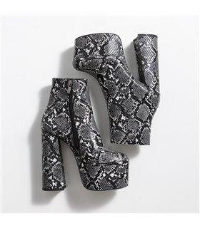 Ellie Tailor Antonia snake grey Ankle Boots Damen Herren Übergröße