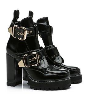 Ellie Tailor Craven schwarz Ankle Boots Damen Herren Übergröße