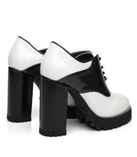 Ellie Tailor Alina schwarz weiss Ankle Boots Damen Herren Übergröße